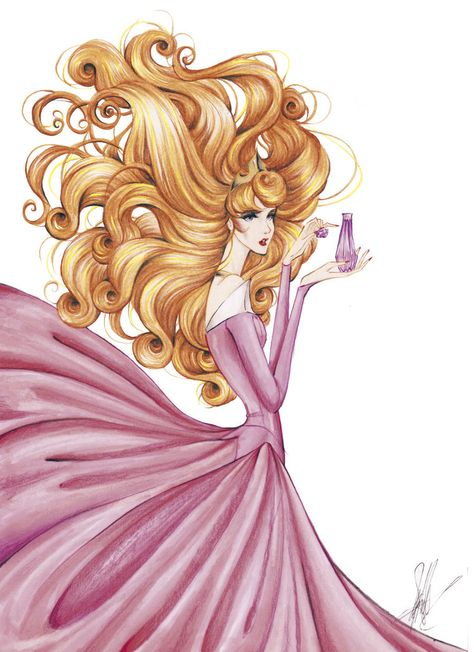 Sleeping Beauty with perfume by frozen-winter-prince on @DeviantArt