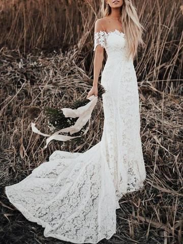 Breath Taking Boho Wedding Dresses Can T Miss Lace Beach Wedding Dress Beach Wedding Dress Boho Mermaid Beach Wedding Dresses