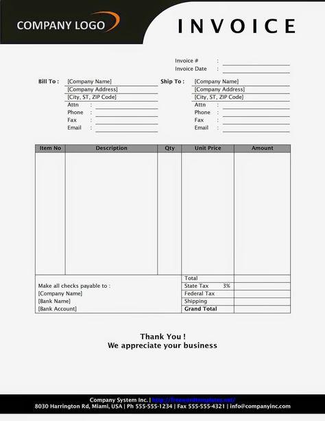Auto Repair Invoice Forms  Auto Service Invoice