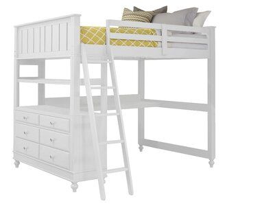 Nickelsville Loft Bed With Desk Joss Main Bed With Drawers Loft Bed Low Loft Beds