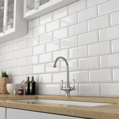 Victoria Metro Wall Tiles Gloss White 20 X 10cm In 2019