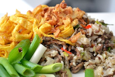 Bill's Pittig gebakken rijst met varkensgehakt - OhMyFoodness