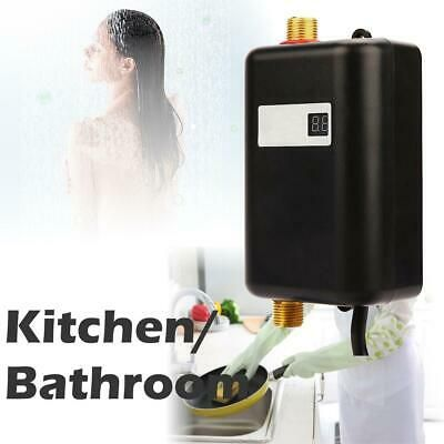 3000w 110v Tankless Instant Electric Hot Water Heater Kitchen Bathroom Shower Us Rated Frequency 3000w Safe Water Heater Hot Water Heater Portable Shower