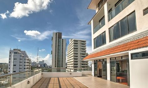 Condo With A Terrace Big For Private Garden And Good For Sunset Viewing In Quite Heart Of Bangkok