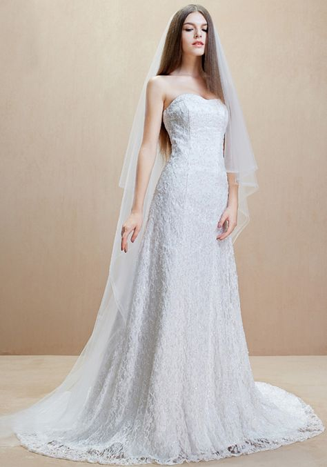 Sweetheart Court Train Tulle Sheath Column Wedding Dress #wedding