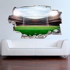 3d Vinyl Wall Sticker Football Stadium Vinyl Wandsticker Fussballstadion Vinyl