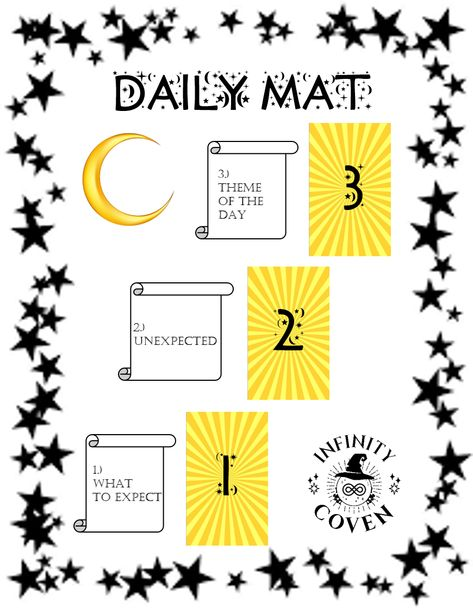 This Tarot Mat Digital Download is only $2.00 and was designed to complement your Tarot reading practice. These questions will help to guide you in your daily Tarot practice. We also offer a laminated version of this mat to protect it from all the things you use in your tarot craft; water, oils, candle wax, herbs etc. #JoinInfinityCoven #InfinityCoven #TarotMat #TarotSpread #Tarot #TarotPractice #TarotLayout #TarotReader #Witch #Divination #DailyPractice