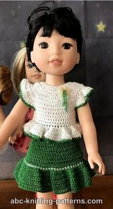 12+ Free Crochet Doll Clothes Patterns | FaveCrafts.com | 300x163