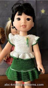 12+ Free Crochet Doll Clothes Patterns | FaveCrafts.com | 300x163