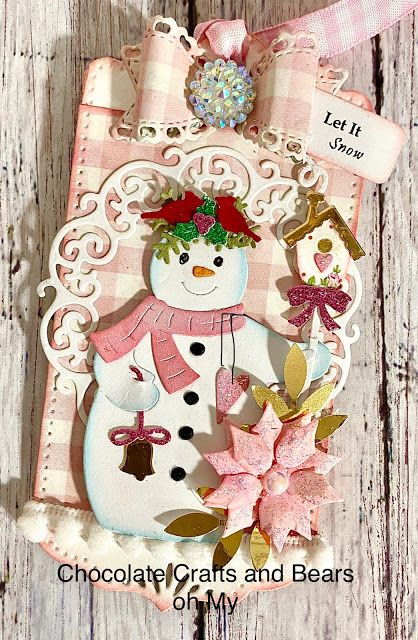 Carol Hurlock Christmas In Pink 2020 Chocolate Crafts and Bears, Oh My in 2020 | Crafts, Christmas tag