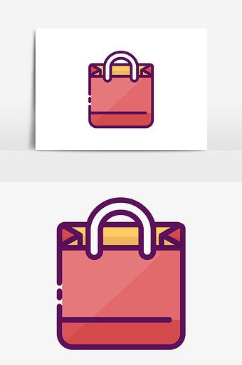 Cute Simple Mbe Style Shopping Bag Handbag Vector Elements Png Images Ai Free Download Pikbest Shopping Bag Bags Vector