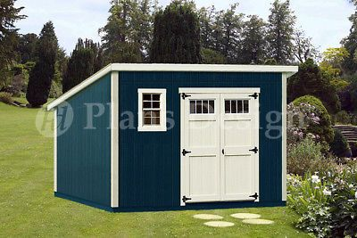 10/' x 20/' Deluxe Modern Backyard Storage Shed Plans #D1020M Free Material List