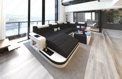 Popular Sofa Dreams Stoff Wohnlandschaft WAVE U Form mit LED Jetzt bestellen unter https