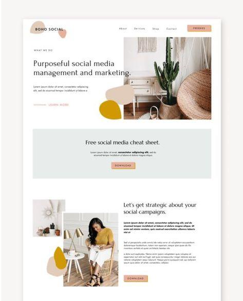Boho Social - Squarespace Template Kit