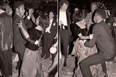 Andre Leon Talley & Diana Ross at Studio 54 New Years Eve party