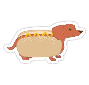 'Hotdog Dog' Sticker by blackunicorn