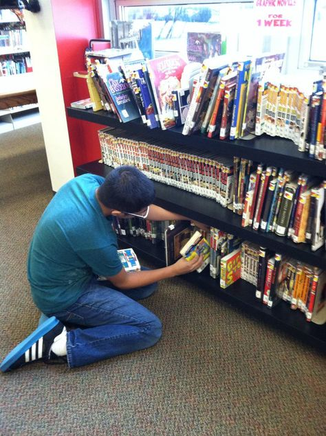 Library Volunteers make everything more awesome at South East Junior High Library in Iowa City!