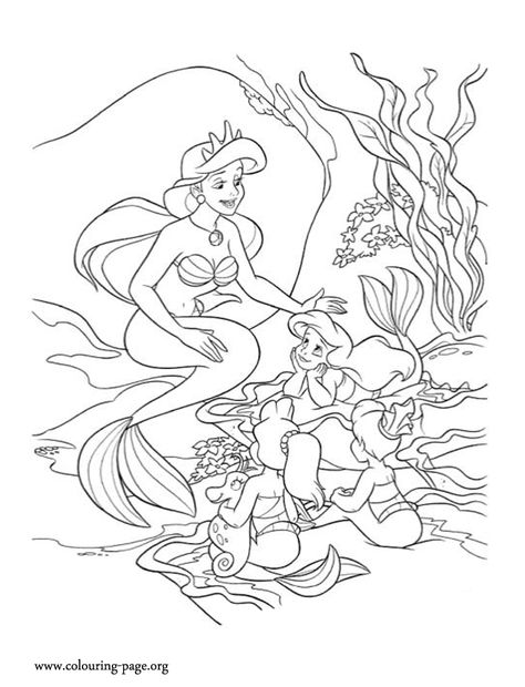 884 best Princess Ariel and Her Sisters images on Pinterest - new little mermaid swimming coloring pages