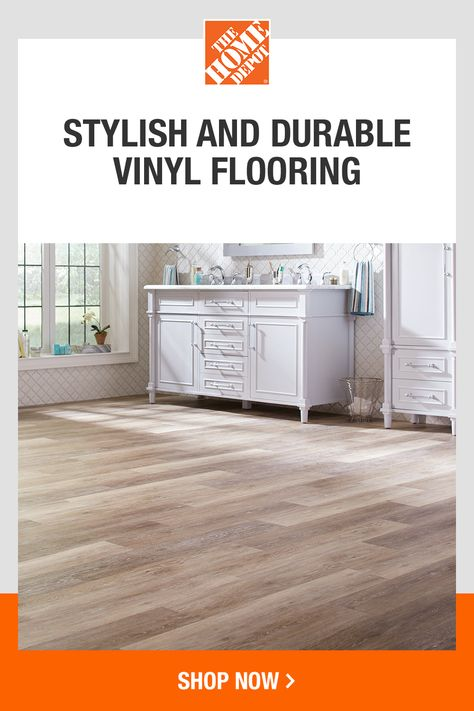 If you're searching for a natural wood look without the upkeep, vinyl plank flooring is the perfect choice. Click to explore easy-to-install, waterproof vinyl flooring from The Home Depot.