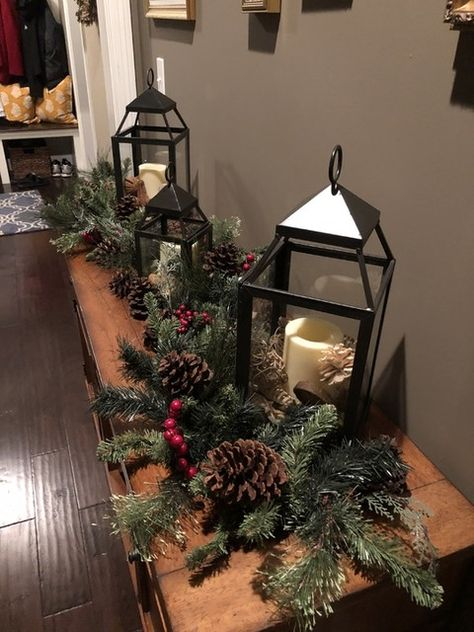 11 Cozy Farmhouse Christmas Home Tour at Night 6 Gift ideas: Christmas is coming Christmas or the Christ event, the Festival of lights, the Party of peace, or the Christ. Decoration Christmas, Christmas Lanterns, Christmas Door, Country Christmas, Xmas Decorations, Christmas Holidays, Christmas Wreaths, Christmas Crafts, Christmas Ornaments