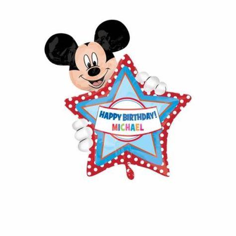 Folieballon Mickey Mouse Happy Birthday Ballonnen Verjaardag