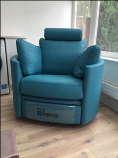 We Used Blue Leather Col 65 For Our Ever Popular Rocking Recliner Swivel Rocking Chair Recliner Chair