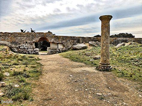 Murallas En Zona Romana Empuries Girona Empuries Griega Y