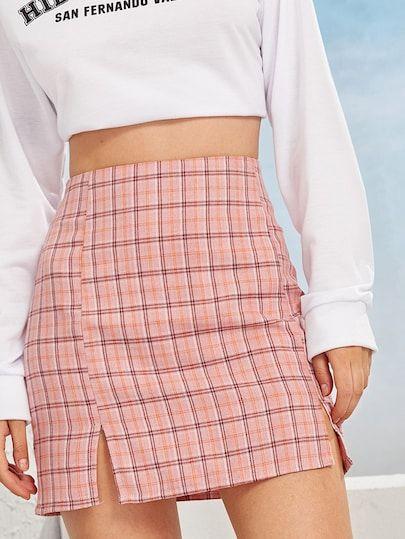 Skirts Skirts For Women Denim Skirts Plaid Skirts Maxi Skirts Romwe Vetements Styles Tenues Mode Vetement Swagg
