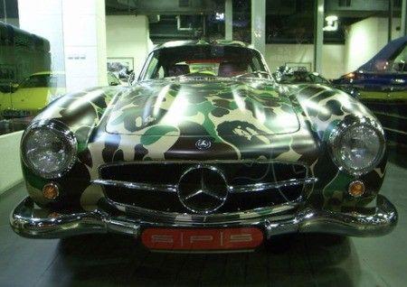Classic Mercedes Benz 300 SL Car Gets  - neue t ren f r k chenschr nke