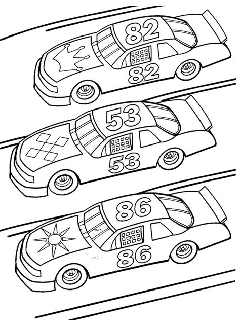 Free Printable Race Car Coloring Pages For Kids | Cars, Free ...