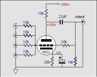 Tube mixer circuit