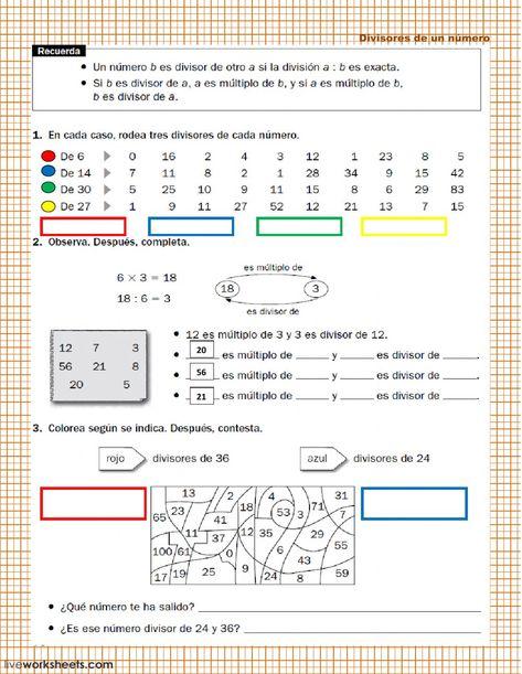 170 Ideas De Múltiplos Y Divisores Multiplos Y Divisores Matematicas Actividades De Matematicas