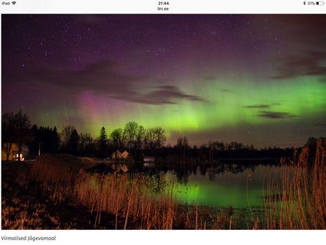 The night sky in Estonia