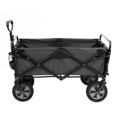 Mac Sports Collapsible Folding Outdoor Garden Utility Wagon Cart W Table Grey Utility Wagon Wagon Cart Folding Wagon