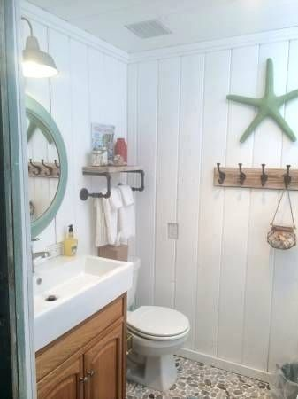 Image Result For Small Beach Bathroom Beach House Bathroom Small Cottage Bathrooms Beach Bathrooms