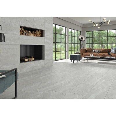 Ceramicas Tesany Westport Sand White 12 In X 24 In Glazed Porcelain Stone Look Floor Tile Lowes Com In 2020 Tile Floor Tile Floor Living Room White Tile Floor