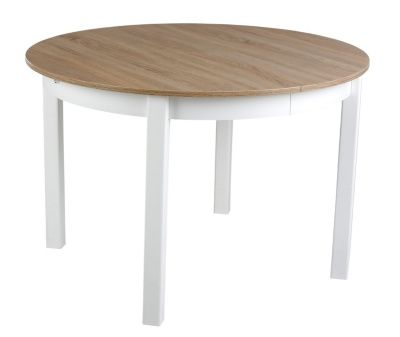 8 Authentique Table Ronde Blanche Avec Rallonge Collection