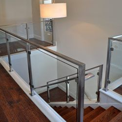 Regal Glass Banister Stairs With Black Iron Frame As Inspiring Modern  Staircase With Wooden Step Foot Also White Wall Painted Color Interior  Schemes ...