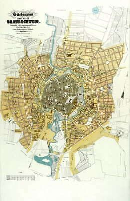 115781 Map Antique Knoll Braunschweig Municipal Plan Decor Laminated Poster Us Fashion Home Garden Homedcor Postersprints Ebay Link