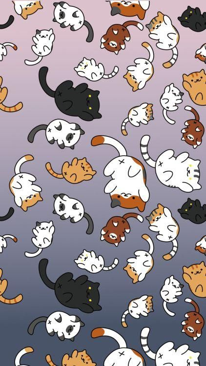 Neko Atsume Wallpaper Google Search Cat Phone Wallpaper Neko