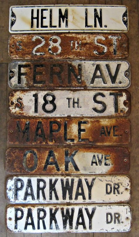 Street Sign.  Industrial decor magnet boards.  Vintage City salvage.   Urban decor. OLD STEEL signs.- easy.com- $35