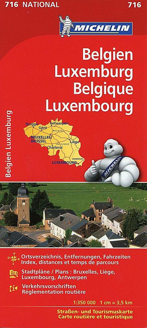 Michelin Karte Belgien Luxemburg Belgique Luxembourg Buch In 2020