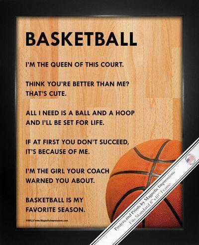 Basketball Female 8x10 Sport Poster Print Sports Quotes Basketball Basketball Quotes Girls Basketball Girls