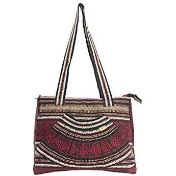 36af9e1d898a PINZON ABANICO Ladies Everyday Woven Canvas Handbag Fair Trade ...