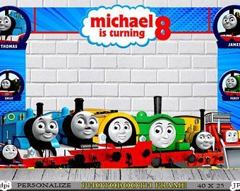 Thomas Train Photo Booth Frame