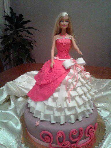 Barbie Fondant Cake Www Ebrununsekerdunyasi Com Tutorial Torte