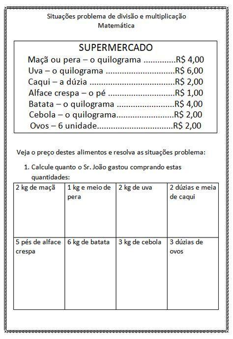 Pin De Rosane Pradi Em Escola Atividades De Matematica