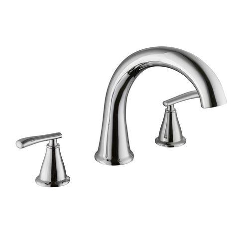 Schon Zuri 2 Handle Deck Mount Roman Tub Faucet In Chrome Grey