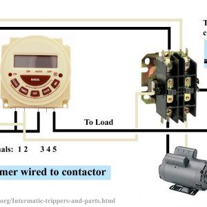 Contactor Wiring Diagram With Timer Unique Contactor Wiring With Timer Wiring Diagram Timer Wire Diagram