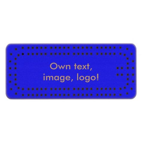 Cribbage Board Royal Blue. Cribbage bord Koningsblauw. Voor spelregels zie: http://nl.wikipedia.org/wiki/Cribbage